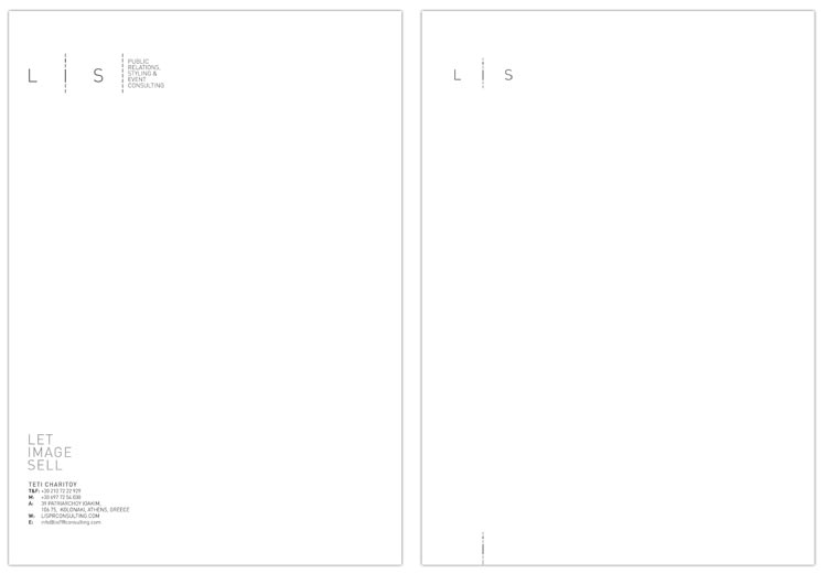 LIS Pr Consulting letterhead, first and second page