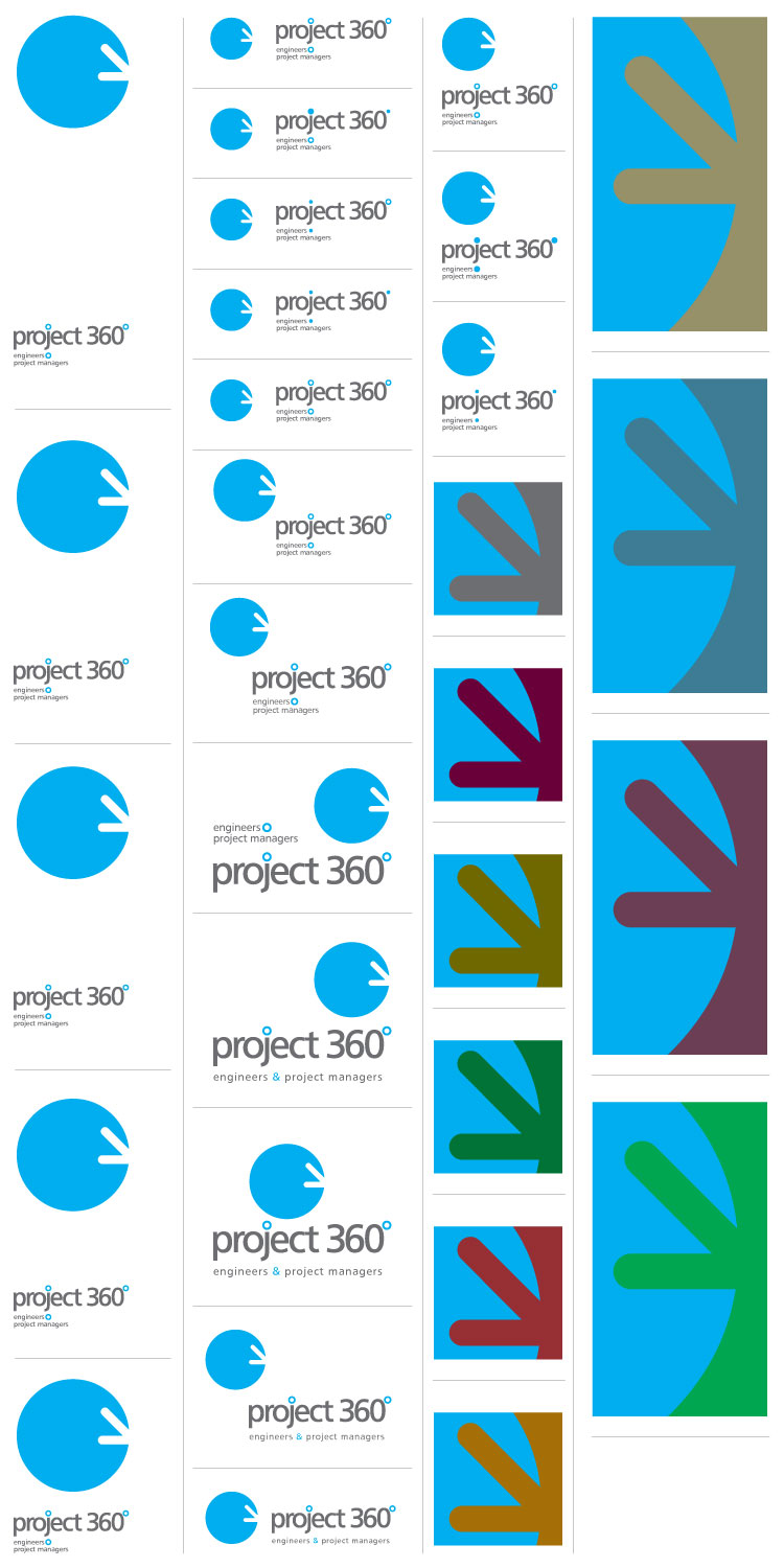 project 360 logo and color variations
